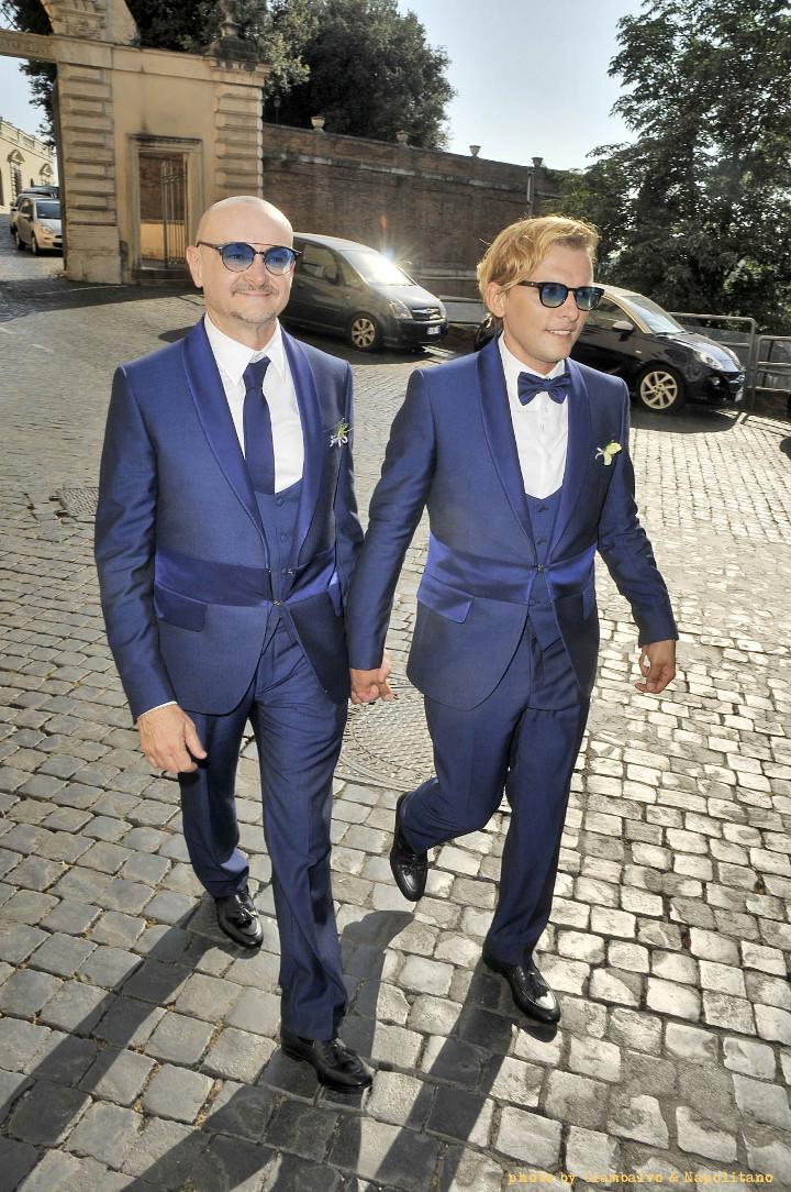gli sposi - matrimoni lgbt roma - unione civile da vip tra Preziosa e Puccioni